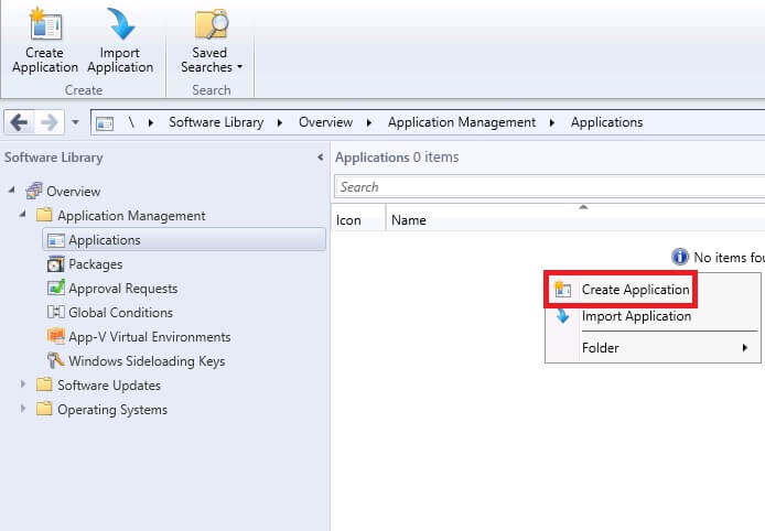 Updating app v package in sccm